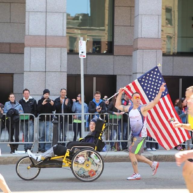 Lucas Carr Matt Brown 2014 Boston Marathon